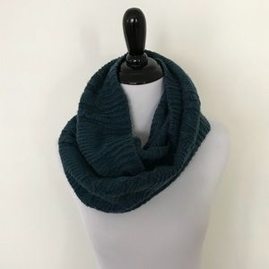 Cable knit turquoise infinity scarf